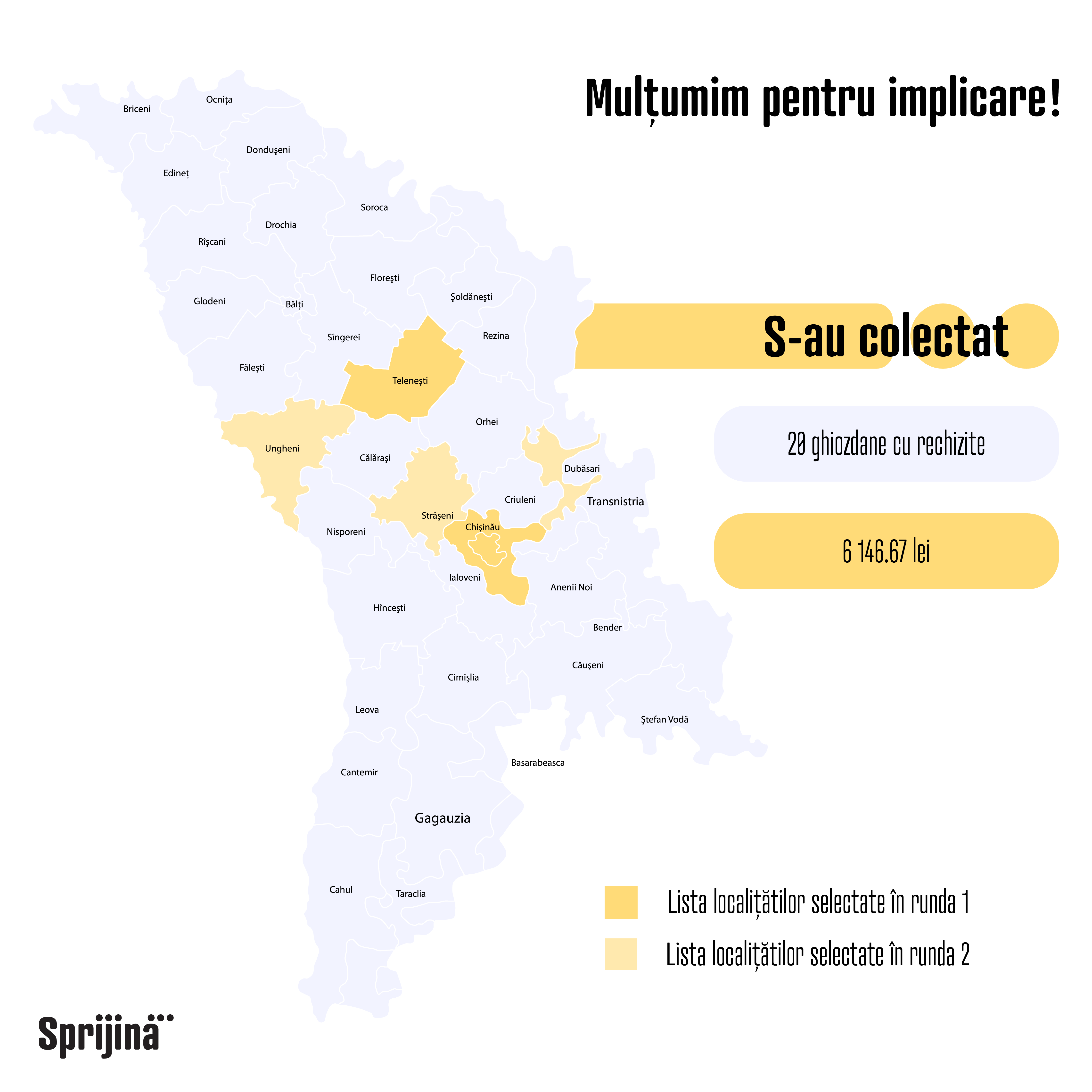 """Rezultatele campaniei sociale: """"Gheozdanul călător"""" în data de 22 august 2018."""